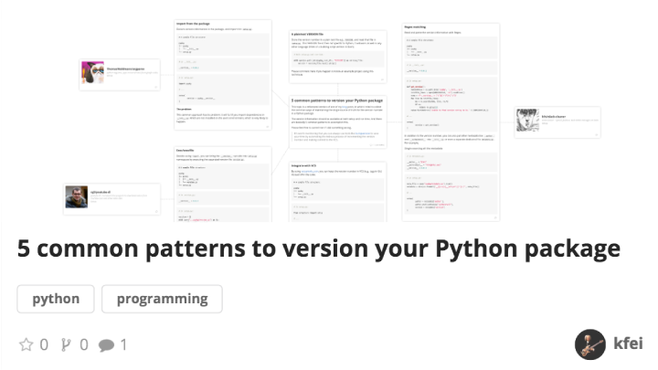 5 common patterns to version your Python package